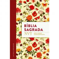 Bíblia NVT capa florida letra grande